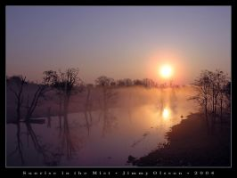 Sunrise in the Mist by J-i-m-p-a