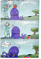 Playing catch with a tentacle monster by NE-R0