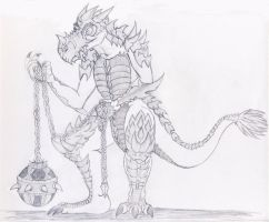 Armoured Elite Lizardman by Kirbystar50