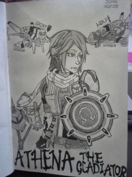 Borderlands' Athena - The Gladiator by FireWeaver360