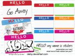Hello my name is stickers by deiby