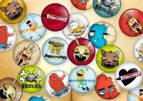 Artcore Buttons by artcoreillustrations