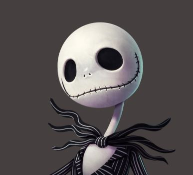 One face a day 131/365 Jack skellington by Dylean