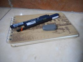 My sketchbok and drawing pen by hjcreative