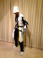 Elsword - Raven Blade Master Cosplay Front View by GameBoy224