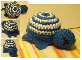 Blue-swirl Turtle Amigurumi by Speshul-Pencil