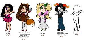Mixed Female Adoptables Set 1 by GlassedRoseAdoptions