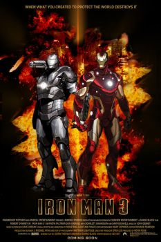 Iron Man 3 Movie Poster by LeX-207