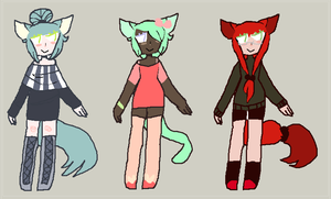 kittygirl adoptables [2/3 open] by gemsoil