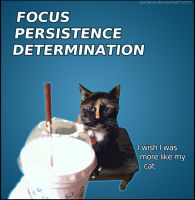 Cat Motivational Poster by surlana