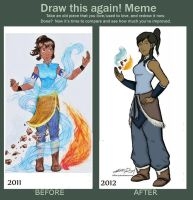 Draw this Again - Korra by talita-rj