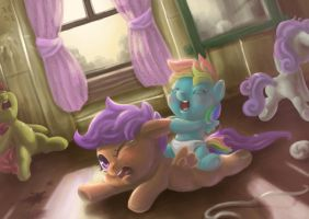 It's hard to babysitting. by mrs1989