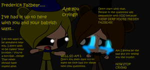.:Ask the Puffed!FNAF Crew Event:. Sadness by Karrie-Karr