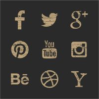 Vintage Social Media Icons by ojovectors