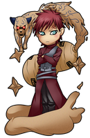Chibi Commission Gaara by nicoyguevarra