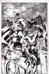 Batman, Nightwing, and Robin commission inks by craigcermak
