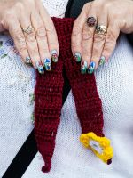 Gnomesville Nail Art and Scarf by MayEbony