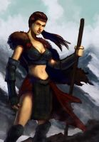 Icewind Dale Girl by overdrivezero