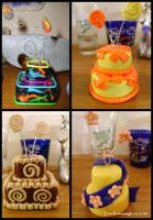 2 Tiered Clay Cakes 7 - 10 by Noviel