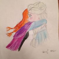 Anna and Elsa - Disney's Frozen sisters by themagicofpotter