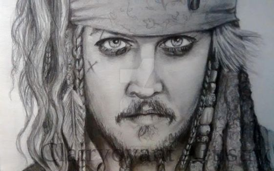 Jack Sparrow Pencil  Drawing by Clairvoyantartistry