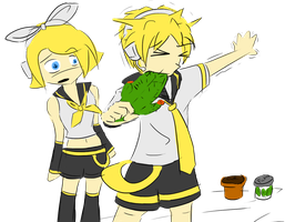 rin len kagamine wrong pickle by Zeeclaw