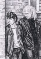 Brian May and Jo Calderone on the street by gagambo