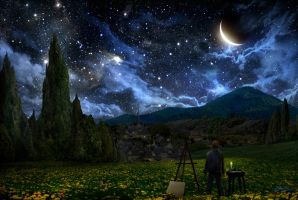 Starry Night by AlexRuizArt