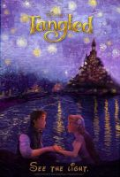 Tangled Starry Night movie poster by Ladybug-17