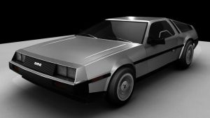 New Delorean by optimusprimez10