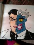 Two-Face - Batman: The Animated Series by PaintMeAmerican