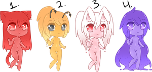 (CLOSED) Point Adoptables: Slime Babies #1 by Acetylace-Adopts
