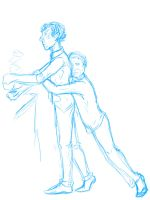 Blue johnlock sketch by ExtremlySelfishChild