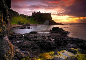 Dunluce Castle at Sunset by gary7even