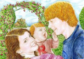 Ron,Hermione and Rose My Girls by lillywmw