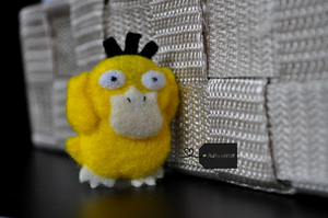 Needle felted Psyduck by FluffyParcel