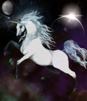 Space Unicorn by Izile