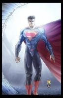 Man of Steel Print by vmarion07