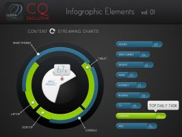 Free CQ Infographic Elements vol 1 by CursiveQ-Designs