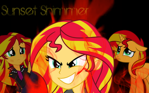 Sunset Shimmer Wallpaper by Spaceisthelimit