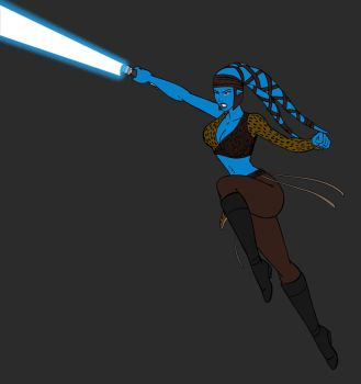 Aayla Secura TCW review WIP by JosephB222
