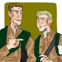 Army Buddies by IncenteFalconer