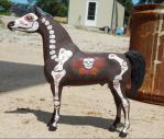 Breyer Day of the Dead Stallion  3 by AdeCiroDesigns