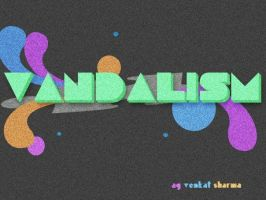 Vandalism Abstract Wallpaper by pointblankcreativity