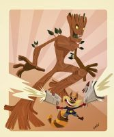 Rocket and Groot by Andres-Iles