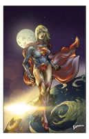 Supergirl colors by kevinenhart