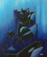 Orcas from the Deep by Wetherdog