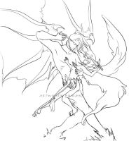 Demons and angels SKETCH by HaneChan