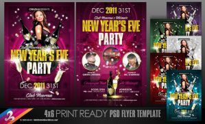 New Year's Eve Party Flyer Templates by AnotherBcreation