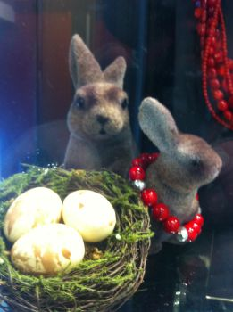 Eostre Bunnies and Eggs by JBG666